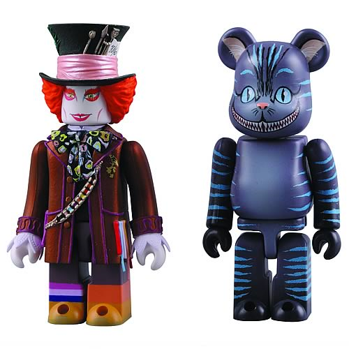 Alice in Wonderland Mad Hatter and Cheshire Cat Kubricks