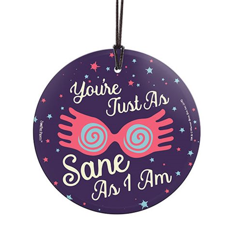 Harry Potter You're Just as Sane as I Am StarFire Prints Hanging Glass Ornament