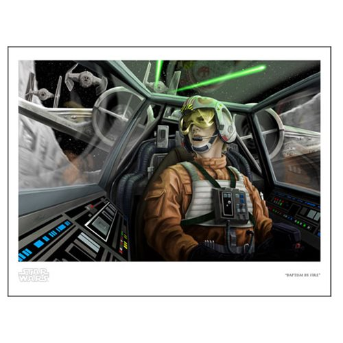 Star Wars Baptism by Fire by Scott Zambelli Paper Giclee Print