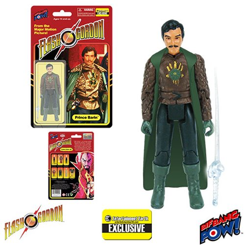 Flash Gordon Prince Barin in Cape 3 3/4-Inch Action Figure - Entertainment Earth Exclusive