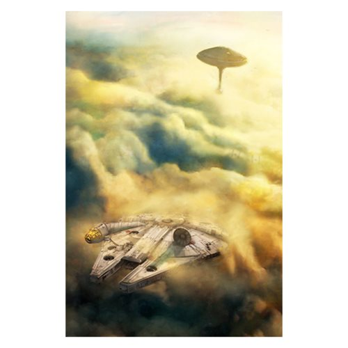 Star Wars Leaving Bespin by Cliff Cramp Canvas Giclee Art Print