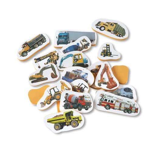 Melissa & Doug Tub Stickables Trucks Soft Shapes Bath Toy