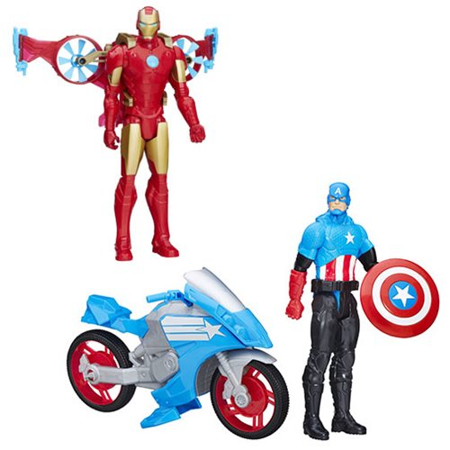 Avengers Titan Hero Vehicle and Action Figure Wave 1 Set