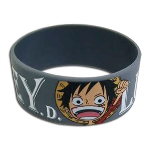 One Piece Monkey D. Luffy PVC Wristband Bracelet