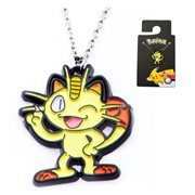 Pokemon Meowth Enamel Pendant Stainless Steel Necklace