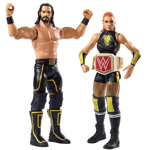 WWE Becky Lynch and Seth Rollins Basic Series 66 Action Figure 2-Pack