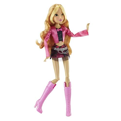 Winx Club Concert Collection Flora Doll Figure, Not Mint