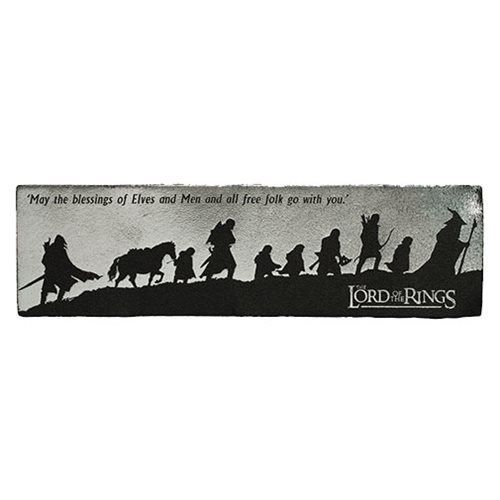 The Lord of the Rings The Fellowship Silhouette Leather Bookmark