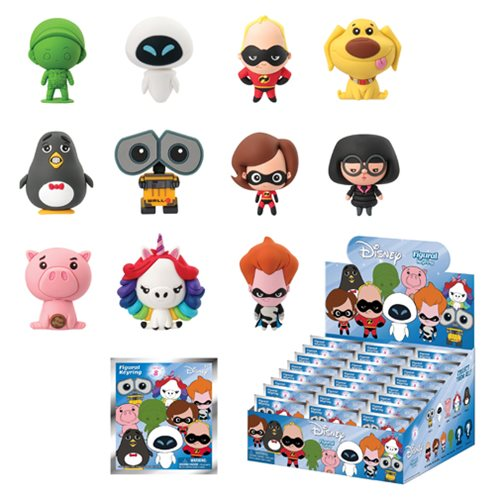 Disney Series 8 3-D Figural Key Chain Display Box