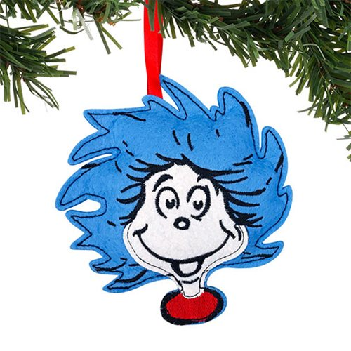 f4a2d40b Dr. Seuss Thing One and Thing Two Double-Sided Felt Ornament ...