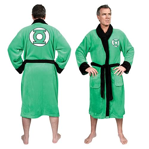 Green Lantern Fleece Bath Robe