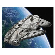 Star Wars Millennium Falcon Orbits Canvas Print
