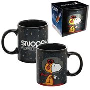 Peanuts NASA Snoopy 12 oz. Heat-Reactive Ceramic Mug