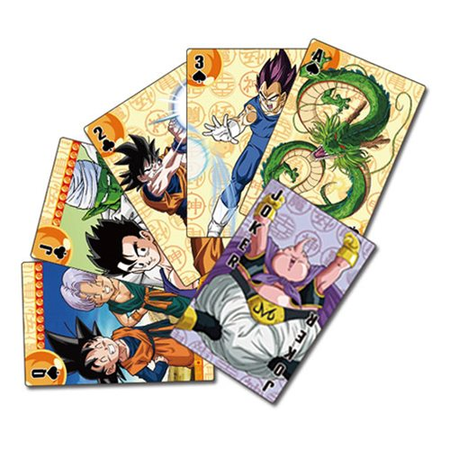 Dragon Ball Z Goku Symbol Playing Cards