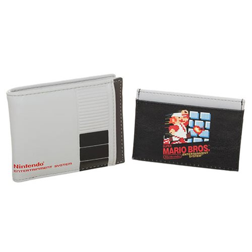 Nintendo 2 in 1 Bifold Wallet with Mario Bros Cartridge Card Holder