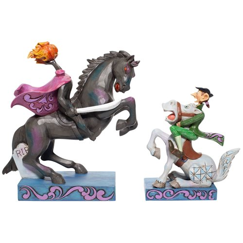 Disney Traditions Headless Horseman and Ichabod Statue by Jim Shore