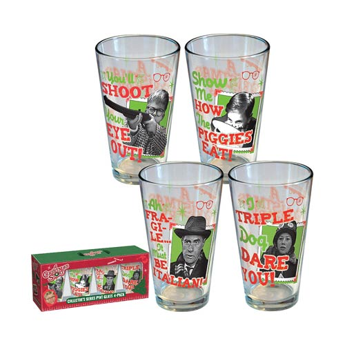 A Christmas Story Retro Pint Glass 4-Pack