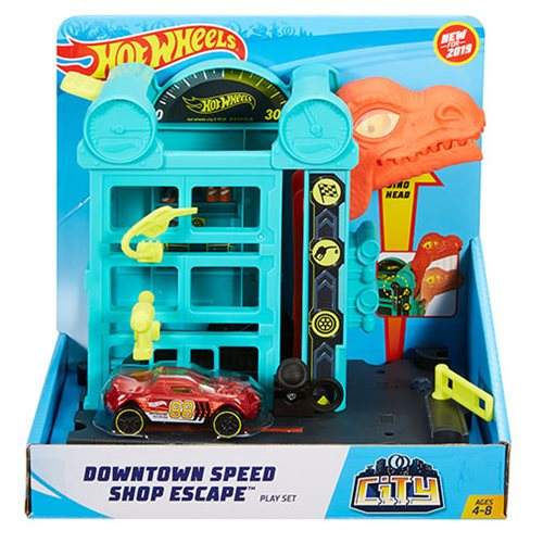 Hot Wheels City Downtown Speed Shop Escape Playset