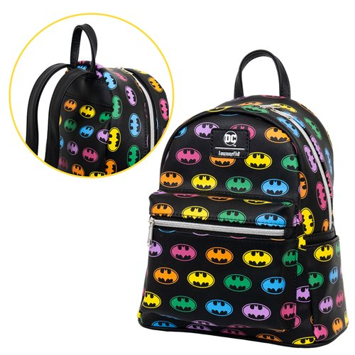 Batman Rainbow Logo Mini-Backpack - Entertainment Earth Exclusive