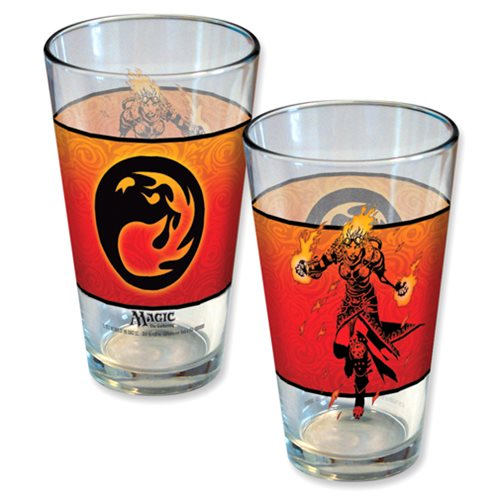 Magic The Gathering Planeswalker Chandra Line Art Pint Glass