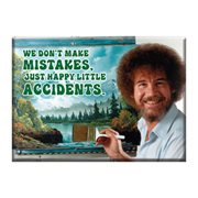Bob Ross Mistakes Flat Magnet