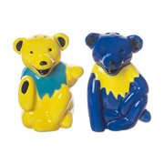 Grateful Dead Dancing Bears Sculpted Ceramic Salt and Pepper Shaker Set