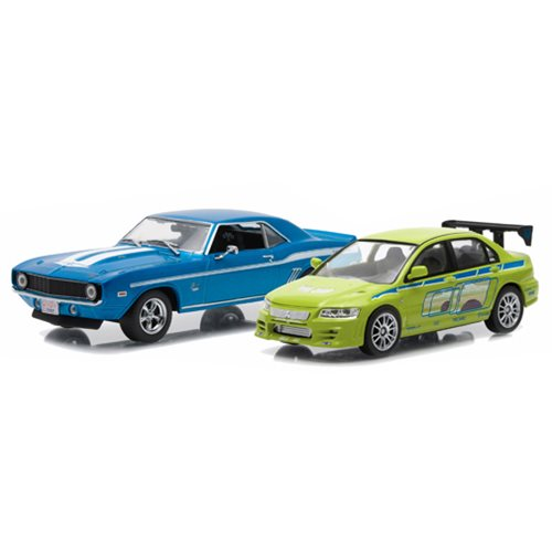 2 Fast 2 Furious Drag Race Scene 1:43 Scale Die-Cast Metal Vehicle 2-Pack