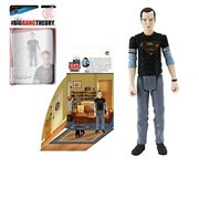 The Big Bang Theory Sheldon in Black Superman T-Shirt 3 3/4-Inch Action Figure Series 2