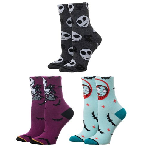 Nightmare Before Christmas Crew Sock 3-Pack Coffin Box Set