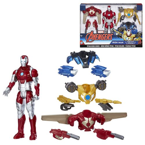 Avengers Titan Hero Iron Man Combat Pack Action Figure