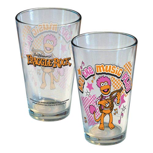 Fraggle Rock Let the Music Play Gobo Pint Glass