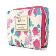 Sleeping Beauty Fairy Godmothers Floral Zip-Around Wallet