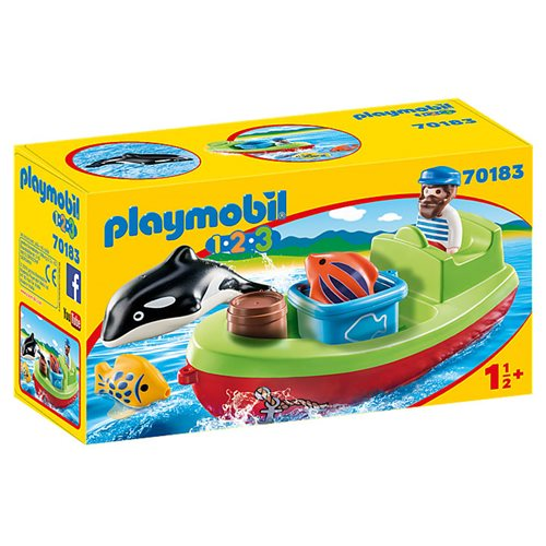 Playmobil 70183 1.2.3 Fisherman with Boat