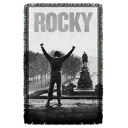Rocky Poster Woven Tapestry Throw Blanket