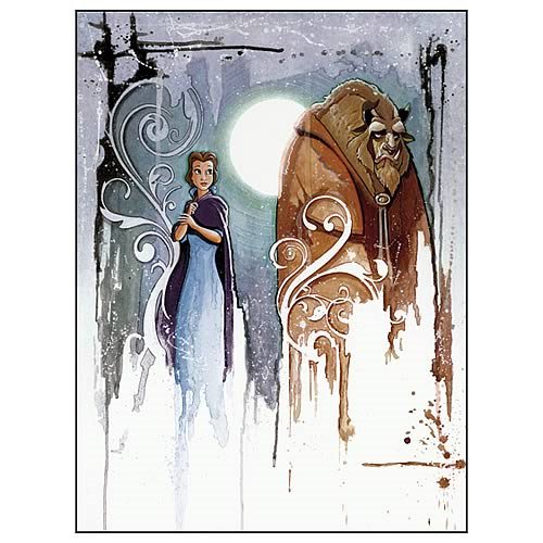 Disney Underground Beauty and the Beast Curse Canvas Giclee