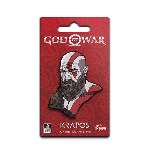 God Of War Kratos Luxury Enamel Icon Pin