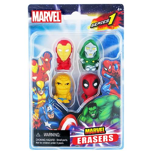 Marvel Figural Eraser 4-Pack Set C