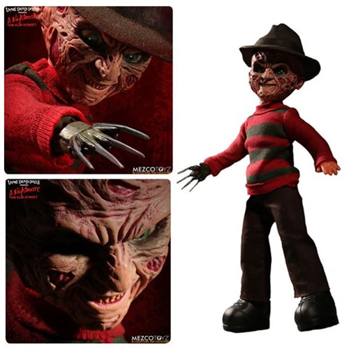 Living Dead Dolls Nightmare on Elm Street Freddy Krueger with Sound, Not Mint