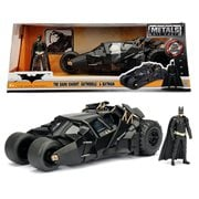Batman The Dark Knight Batmobile 1:24 Scale Die-Cast Metal Vehicle with Figure