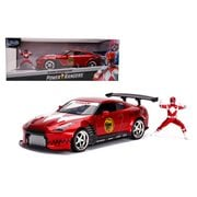 Mighty Morphin Power Rangers Red Ranger 2009 Nissan GT-R 1:24 Scale Die-Cast Metal Vehicle with Figure