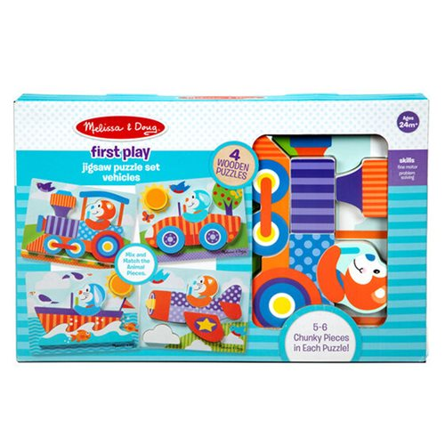 Melissa & Doug First Play Jigsaw Puzzle Set Vehicles