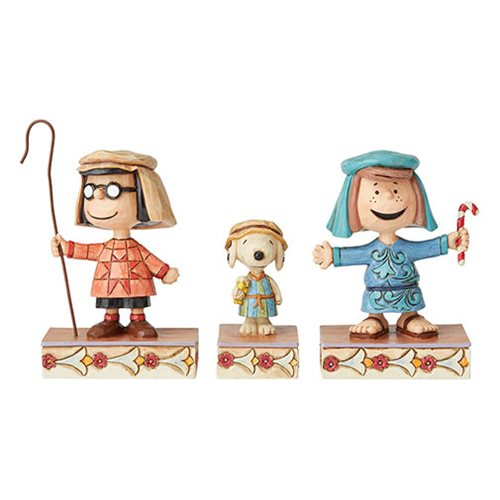 Peanuts Christmas Pageant by Jim Shore Statue Set 3