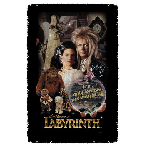Labyrinth Only Forever Woven Tapestry Throw Blanket