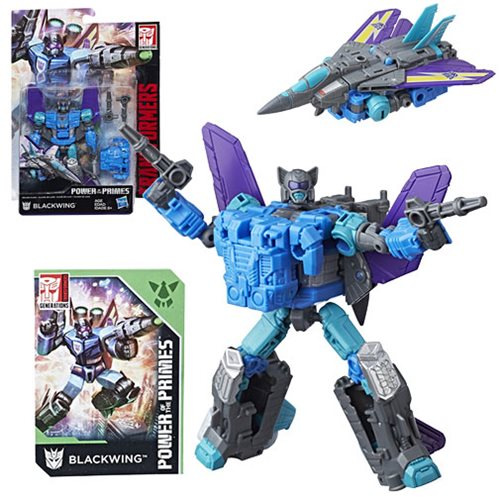 Transformers Generations Power of the Primes Deluxe Blackwing, Not Mint