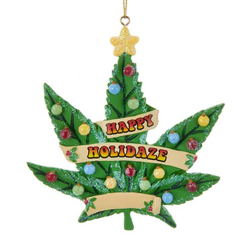 Cannabis Leaf 4-Inch Resin Ornament