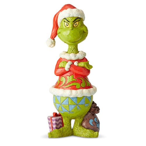 Dr. Seuss The Grinch Statue with Arms Folded by Jim Shore Statue
