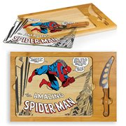 Spider-Man Icon Glass Top Serving Tray and Knife Set