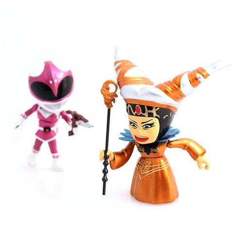 Mighty Morphin' Power Rangers Metallic Rita vs. Pink Ranger Action Vinyl Figures 2-Pack - 2015 SDCC Exclusive