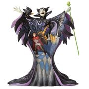 Disney Traditions Sleeping Beauty Maleficent with Scene Malevolent Madness Statue