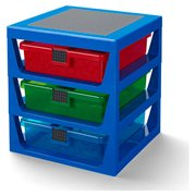 LEGO Blue 3-Drawer Storage Rack
